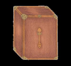 baule vintage in legno con inserti